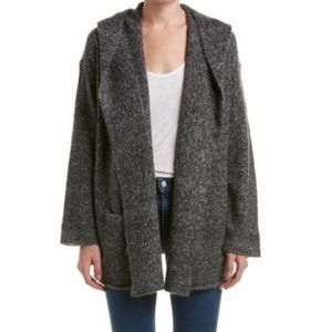 Vince Hooded Mohair & Wool Blend Cardigan